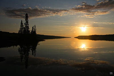 Photograph - Isle Royale Sunset by John Meader