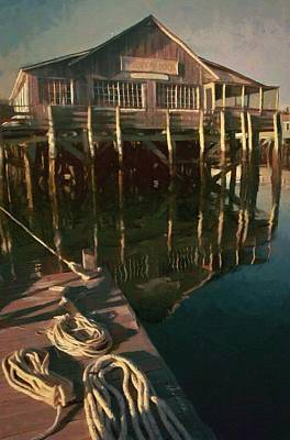 Painting - Islesford Dock by Jeff Kolker