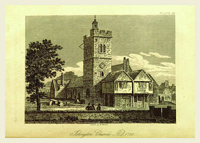 Parish Drawing - Islington Church, The History And Antiquities Of The Parish by Litz Collection