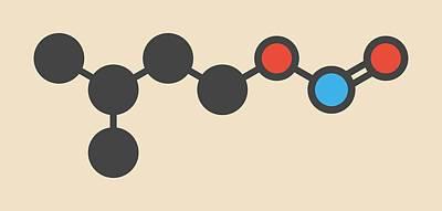 Isoamyl Nitrite Popper Drug Molecule Art Print by Molekuul