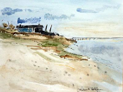 Isolated Beach House Art Print