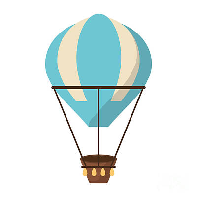 Leisure Wall Art - Digital Art - Isolated Hot Air Balloon Design by Jemastock