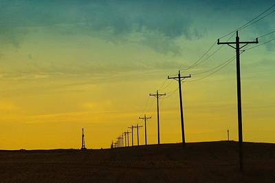 Telephone Poles Photograph - Isolated In North Dakota by Jeff Swan