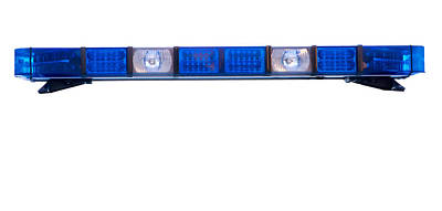 Isolated Police Emergency Light Roof Bar Art Print by Fizzy Image