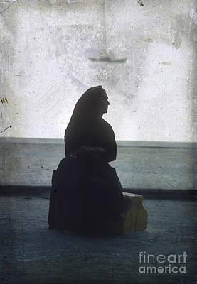 Isolated Woman Print by Bernard Jaubert
