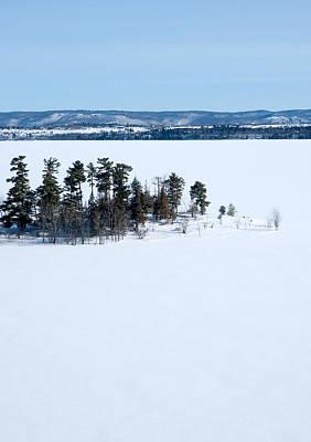 Winter Scene Photograph - Isolation Pinheys Point In Winter Ottawa River by Rob Huntley