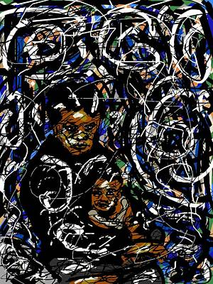 African-american Digital Art - Isolation by Rachel Scott