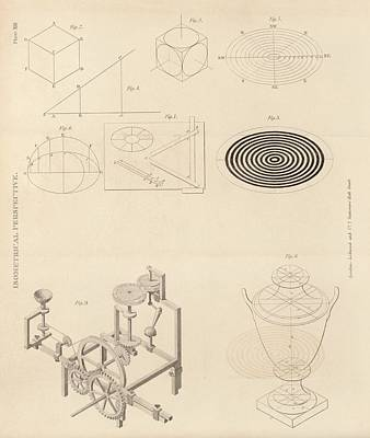 1860s Photograph - Isometric Perspectives by King's College London
