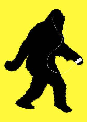 Music Ipod Digital Art - iSquatch - on Yellow by Gravityx9  Designs