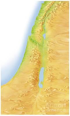 Israel And Palestine, Artwork Art Print by Gary Hincks
