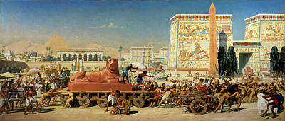 Construction Painting - Israel In Egypt, 1867 by Sir Edward John Poynter