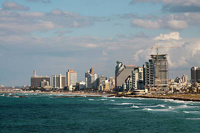 Israel, Jaffe, Beachfront High-rises Art Print