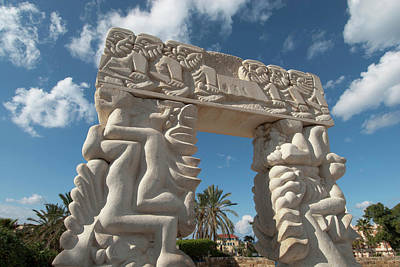 Jaffa Photograph - Israel, Jaffe, Gate Of Faith Stone by Ellen Clark