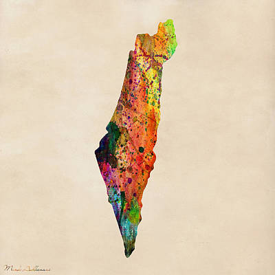 Abstract Pattern Painting - Israel by Mark Ashkenazi