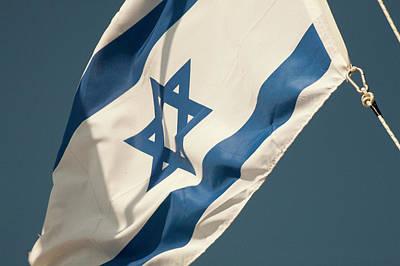 Star Of David Photograph - Israeli Flag by Dave Bartruff