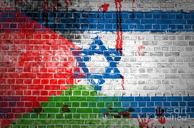 Separation Digital Art - Israeli Occupation by Antony McAulay