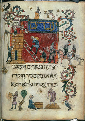 Jew Photograph - Israelites Building The Cities by British Library