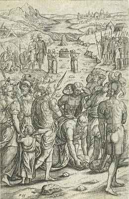 River Jordan Drawing - Israelites Cross The Jordan, Pieter Huys by Pieter Huys And Pieter Van Der Borcht (i)