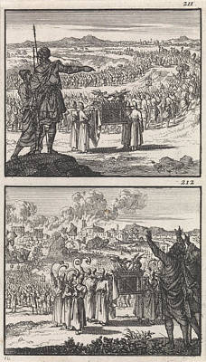 Jordan Drawing - Israelites Crossing The Jordan, Fall Of Jericho by Litz Collection