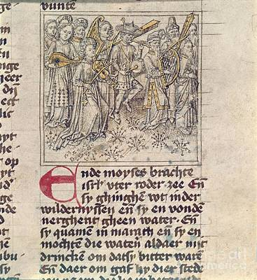 Thanksgiving Art Photograph - Israelites' Song Of Thanksgiving by British Library