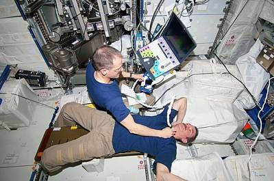 Manned Space Flight Photograph - Iss Astronaut Ultrasound Scan by Nasa