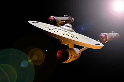 Spock Photograph - Iss Enterprise  by Paul Whitmarsh