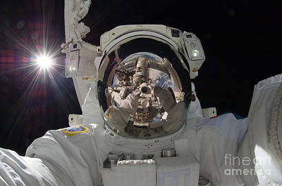 Photograph - Iss Expedition 32 Spacewalk by Nasa Jsc