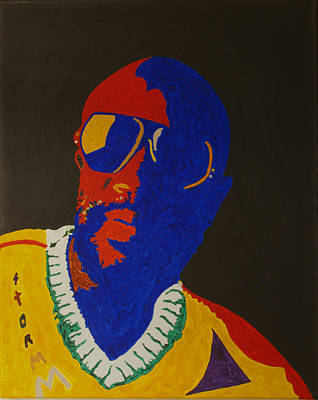 Singer Songwriter Painting - Issac Hayes by Stormm Bradshaw