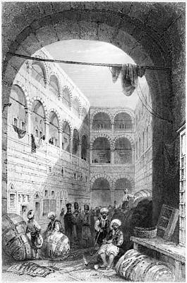 Bales Painting - Istanbul Bazaar, 1839 by Granger