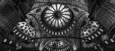 Cupola Photograph - Istanbul - Blue Mosque by Michael Jurek