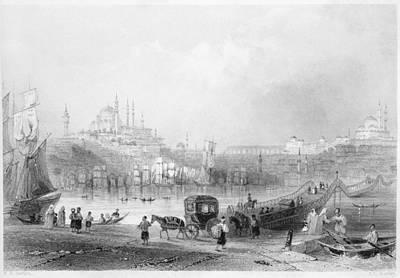 Julia Child Painting - Istanbul Bridge, 1839 by Granger