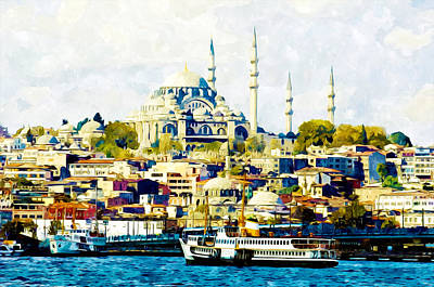 View Digital Art - Istanbul City by Lanjee Chee