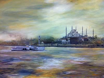 Bosphorous Painting - Istanbul by Didem Gungor Walker