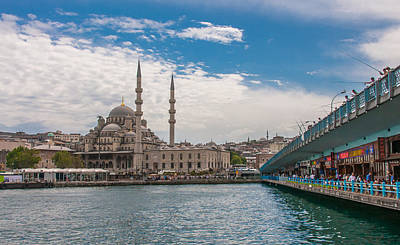 World Map Poster Photograph - Istanbul Fishing Bridge by Alex Hiemstra