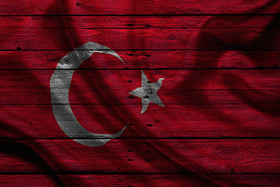 Flag Pole Photograph - Istanbul by Joe Hamilton