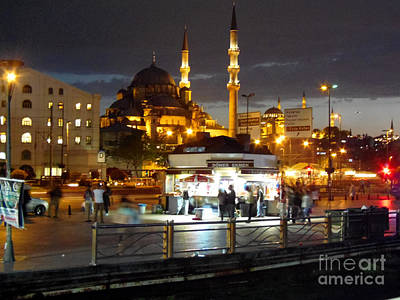 Photograph - Istanbul Mosque At Night by Lou Ann Bagnall