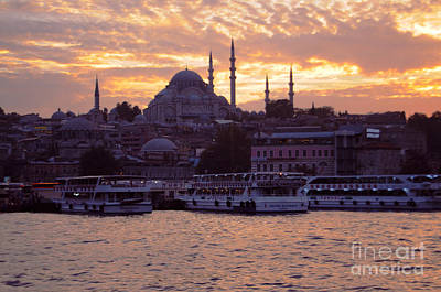 Photograph - Istanbul Port Sunset by Haleh Mahbod