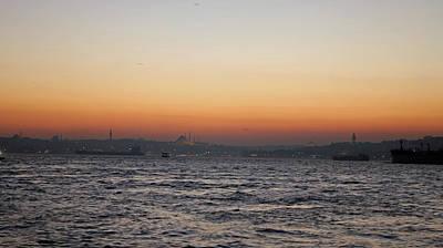 Istanbul Sunset Original by Recep Suha Selcuk