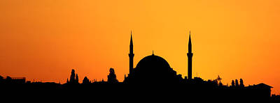 Istanbul Photograph - Istanbul Sunset by Stephen Stookey
