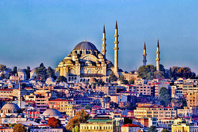 Hdr Effects Photograph - Istanbul by Tom Prendergast
