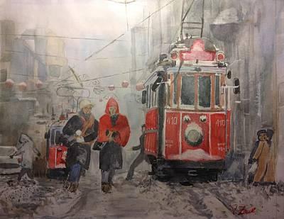 Aquarel Drawing - Istanbul by V Zaur