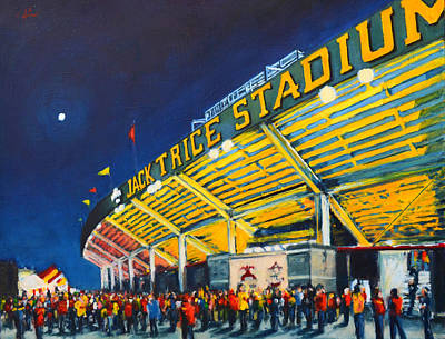 Painting - Isu - Jack Trice Stadium by Robert Reeves