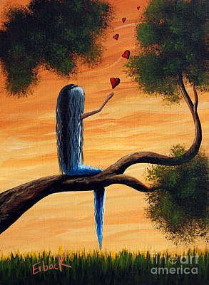 Fantasy Tree Art Painting - It Feels So Good To Say I Love You By Shawna Erback by Shawna Erback