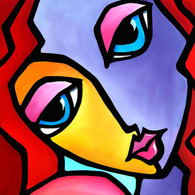 Colorful Abstract Drawing - It Girl By Fidostudio by Tom Fedro - Fidostudio