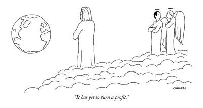 Angels Drawing - It Has Yet To Turn A Profit by Alex Gregory