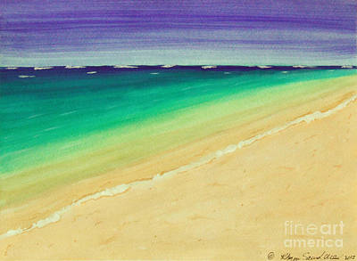 Painting - It Is A Beautiful Day On Beach  by Robyn Saunders