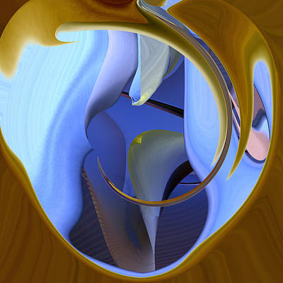 Digital Art - It Is Blue Inside by rd Erickson