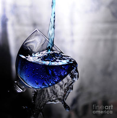 Martini Royalty-Free and Rights-Managed Images - It is Blue by Randi Grace Nilsberg