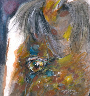 Art Print featuring the painting It Is In The Eye by Mary Armstrong