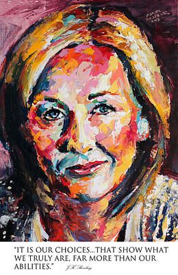 Derek Russell Wall Art - Painting - It Is Our Choices That Show What We Truly Are Far More Than Our Abilities Jk Rowling by Derek Russell
